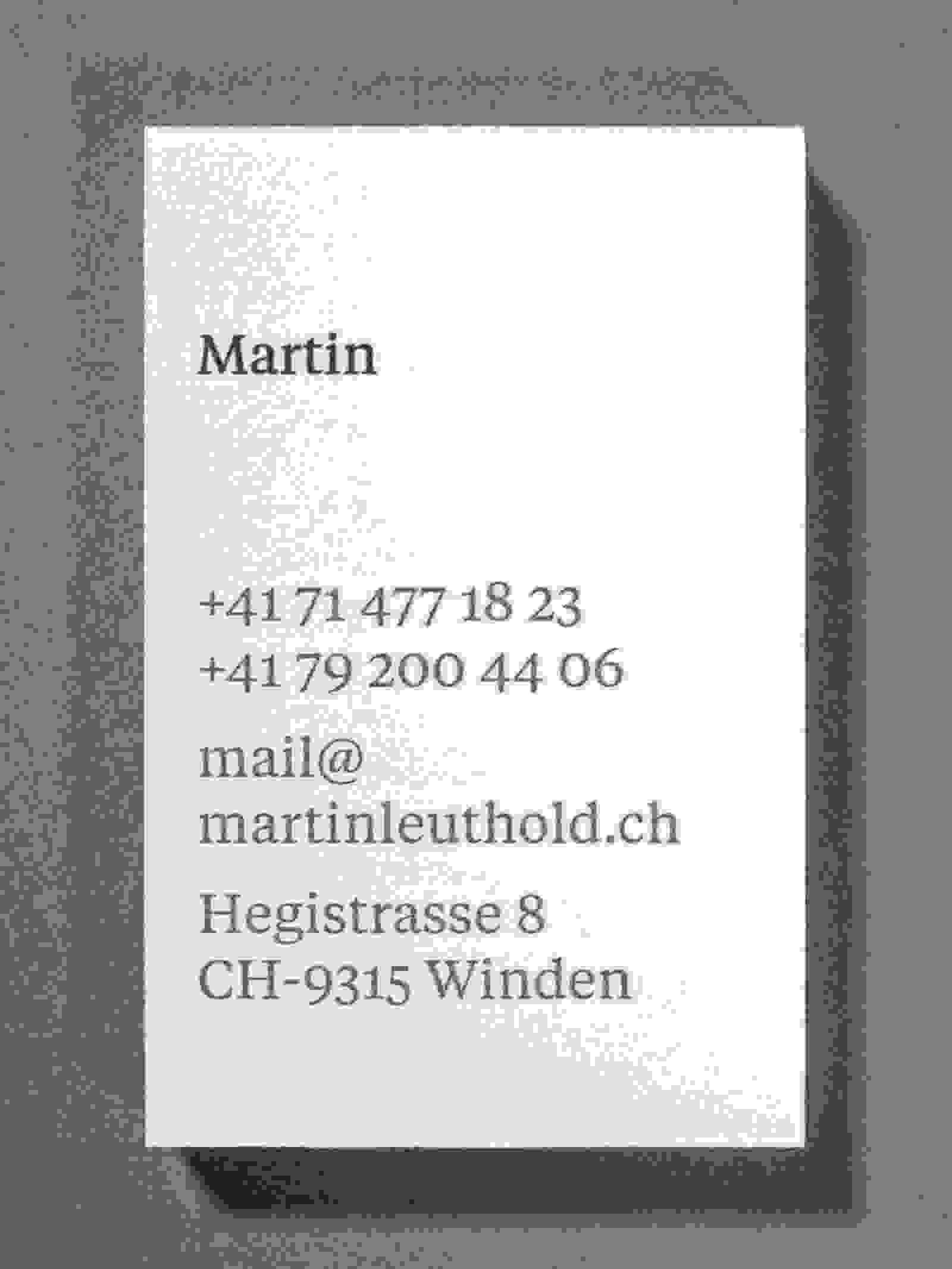 Briefschaft Martin Leuthold