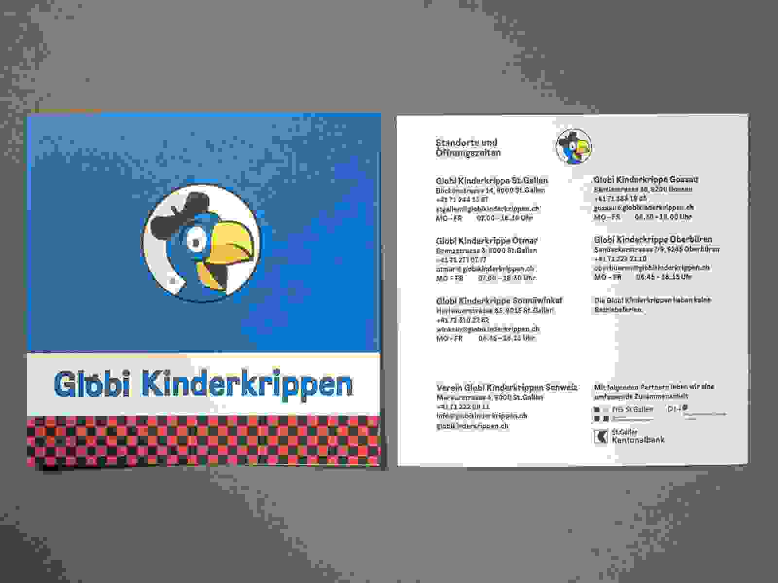 Flyer Globi Kinderkrippen